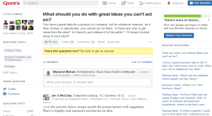 Quora for Ideas