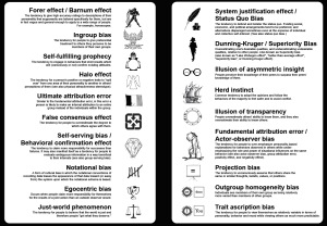 Cognitive Biases Field Guide