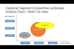 Customer Segment Multi Axes Competitive Analysis Chart