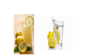 Lemonade and Water with Lemon
