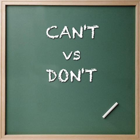 Cant vs. Dont - Don't is better